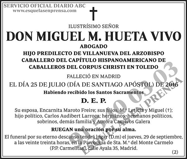 Miguel M. Hueta Vivo